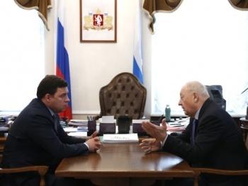 Евгений Куйвашев Эдуард Россель Фото: ДИП губернатора Свердловской области