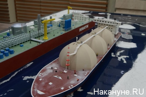 Ямал-СПГ, макет, Новатэк, танкер|Фото: Накануне.RU