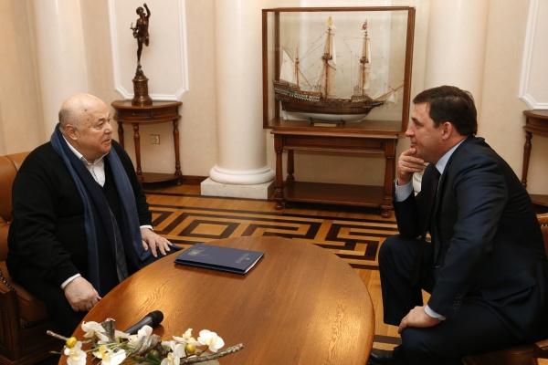Евгений Куйвашев, Александр Калягин|Фото: Департамент информационной политики губернатора