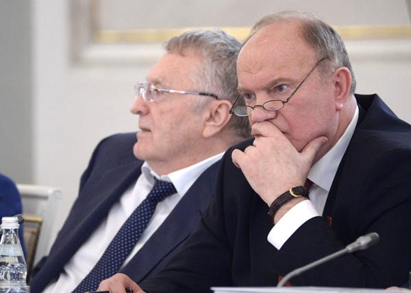 Владимир Жириновский, Геннадий Зюганов, Госсовет|Фото: kremlin.ru