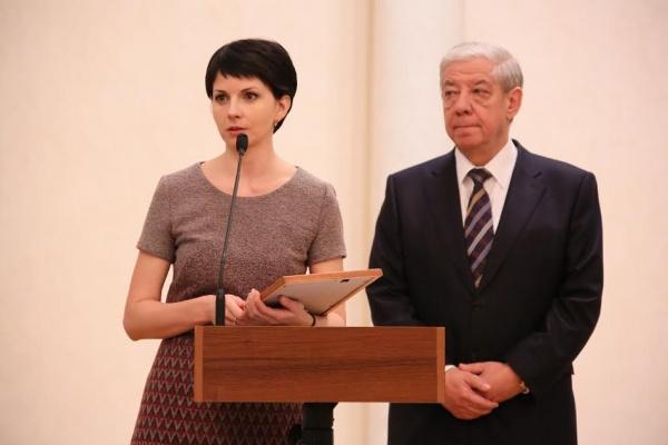 Ирина Арефьева, Александр Левин Фото: департамент информационной политики губернатора