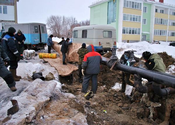 Целинное, теплопровод|Фото: kurganobl.ru