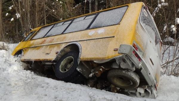 школьный автобус трасса ДТП|Фото: ГИБДД Свердловской области