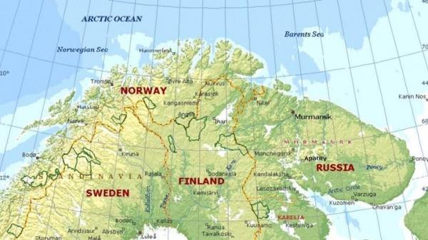 Мурманская область, Финляндия, карта Фото: sxtmns4.appspot.com