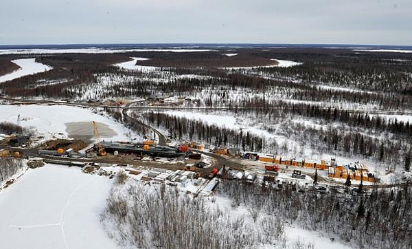 Северный широтный ход, СШХ, мост через Надым, Ямал, Ямало-Ненецкий автономный округ (2016)|Фото: правительство.янао.рф