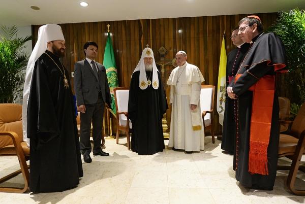 патриарх Кирилл, Папа Римский франциск|Фото:patriarchia.ru