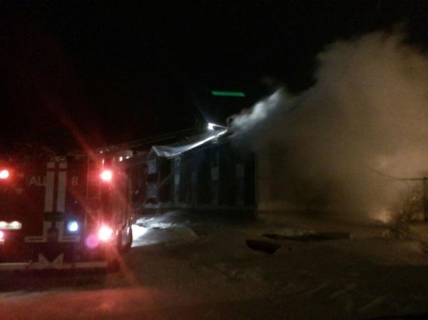 Пожар в Новом Уренгое, ул. Южная|Фото:vk.com
