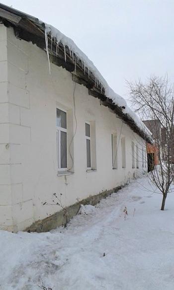 Красина, 19, Ишим, сосульки, снег|Фото: пресс-служба прокуратуры Тюменской области