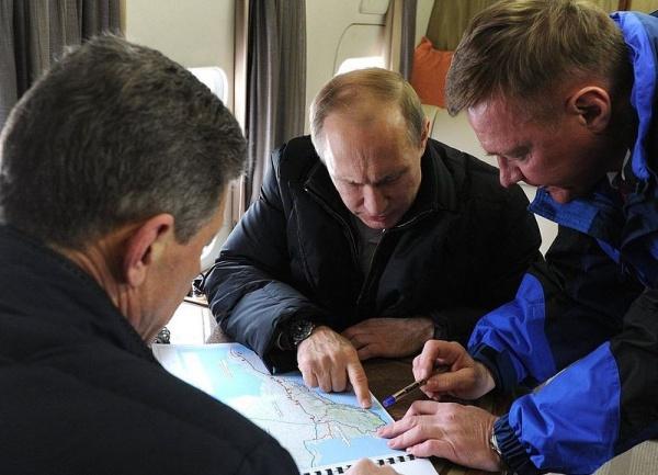 Владимир Путин, осмотр моста через Керченский пролив, крымский мост|Фото:пресс-служба Кремля