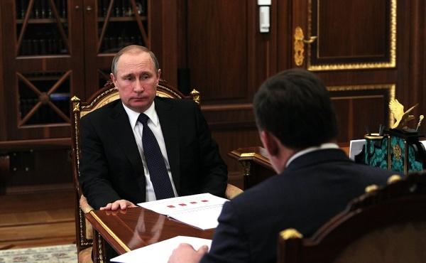 Владимир Путин Евгений Куйвашев|Фото: пресс-служба президента РФ