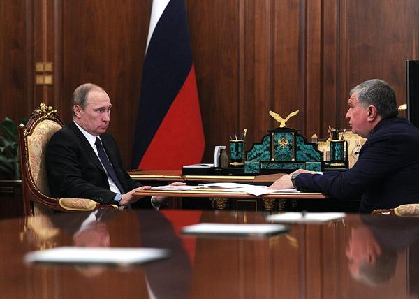 Владимир Путин, Игорь Сечин встреча Путина с Сечиным|Фото: kremlin.ru