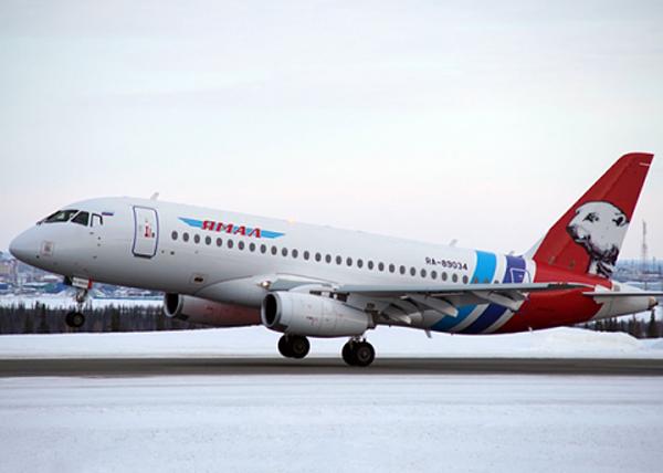 авиакомпания Ямал, Сухой Суперджет 100(2016)|Фото: правительство.янао.рф