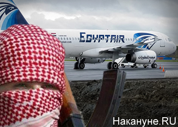 коллаж, А-320 компании EgyptAir, террорист|Фото: Накануне.RU