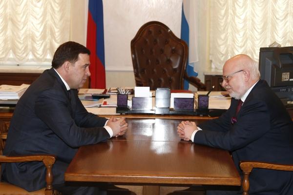 Евгений Куйвашев Михаил Федотов Фото: ДИП губернатора Свердловской области