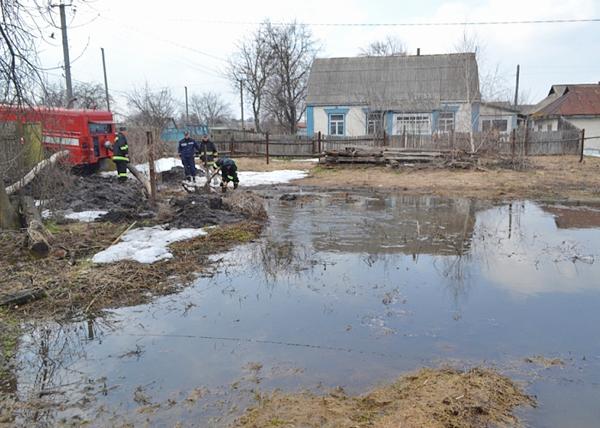 Подтопление придомовых территорий в городе Катайске|Фото: 45.mchs.gov.ru