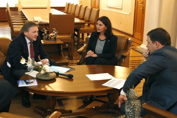 Борис Титов, Евгений Куйвашев|Фото: Департамент информационной политики губернатора