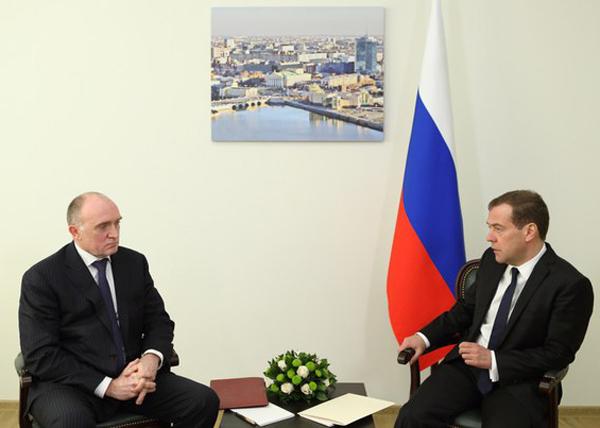 Дмитрий Медведев, Борис Дубровский|Фото: пресс-служба губернатора Челябинской области