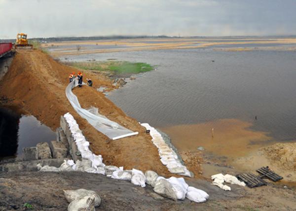 превентивные мероприятия на реке Черная|Фото: МЧС по Курганской области