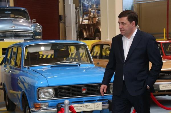 музей советского автопрома, Евгений Куйвашев, Андрей Козицын|Фото: Департамент информационной политики губернатора