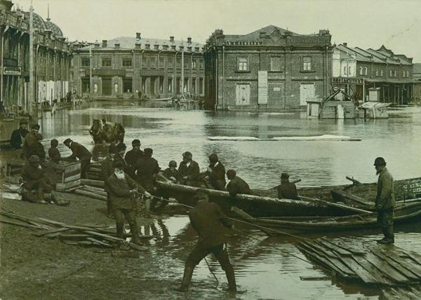 паводок в Кургане, 1914 год|Фото: Государственный архив Курганской области