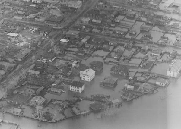 паводок в Кургане, 1957 год|Фото: Государственный архив Курганской области