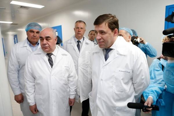 Евгений Куйвашев, Аркадий Белявский, Медсинтез|Фото: Департамент информационной политики губернатора