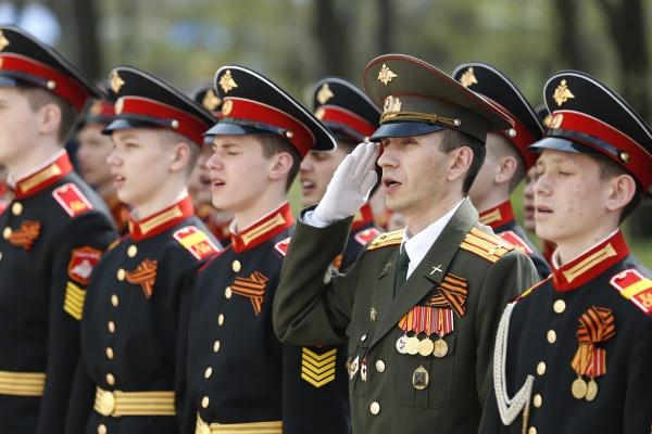 митинг, суворовское училище, День Победы|Фото: Департамент информационной политики губернатора