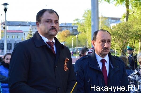 Сергей Руденко и Александр Поршань, 8 мая, Свеча  памяти Курган|Фото:Накануне.RU
