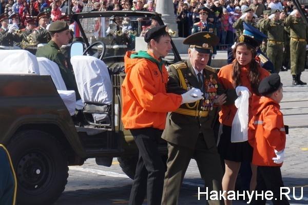 Парад, 9 мая, Екатеринбург, ветераны|Фото:Накануне.RU