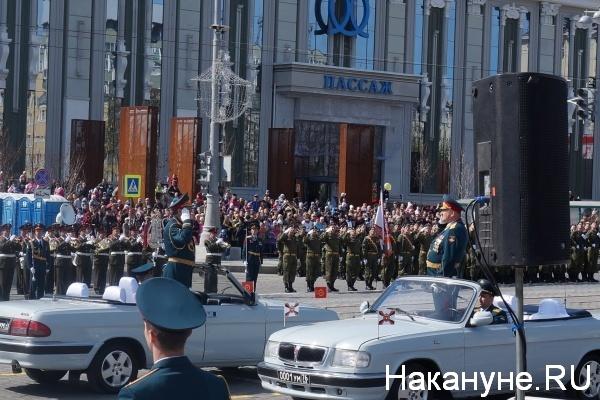 Парад, 9 мая, Екатеринбург, Хасан Калоев, Владимир Зарудницкий|Фото:Накануне.RU