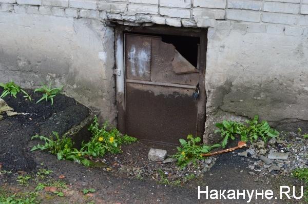 Вход в подвал дома по адресу Блюхера, 6 Курган Фото:Накануне.RU
