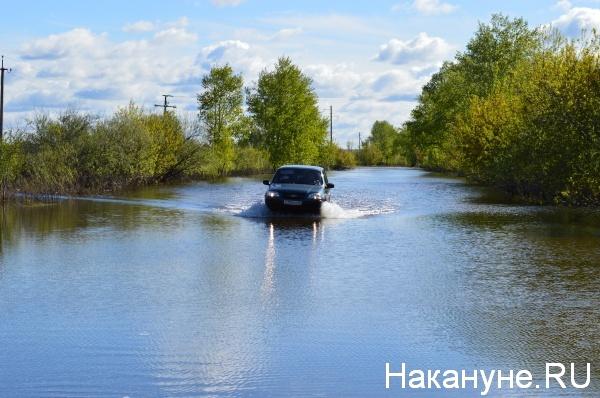 Автомобили проезжают через воду Курган|Фото:Накануне.RU