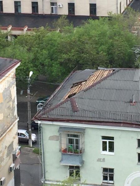Курган Пролетарская, 59 снесло крышу ураганом|Фото:vk.com группа Типичный Курган