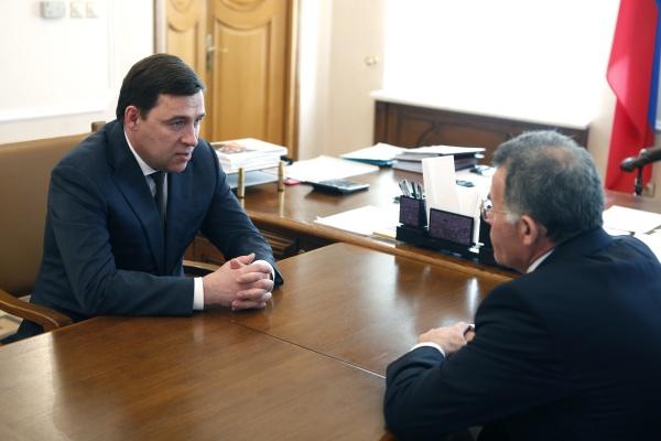 Евгений Куйвашев Владимир Тунгусов Фото: ДИП губернатора Свердловской области