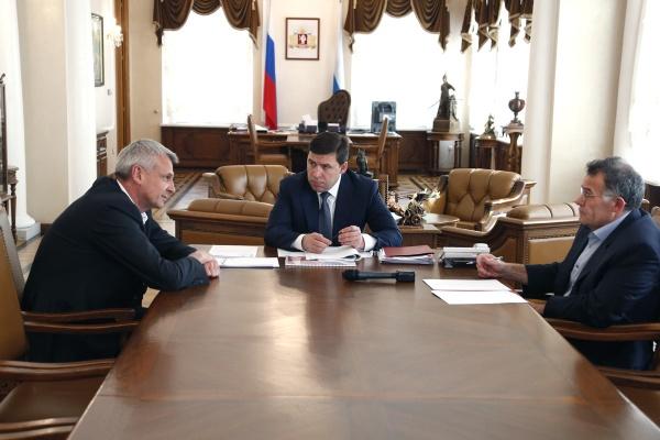 Евгений Куйвашев Сергей Носов Владимир Тунгусов|Фото: ДИП губернатора Свердловской области