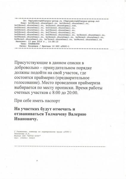праймериз|Фото: Сергей Андреянов