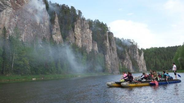 пожар в природном парке, Река Чусовая|Фото:http://vk.com/dianaveter