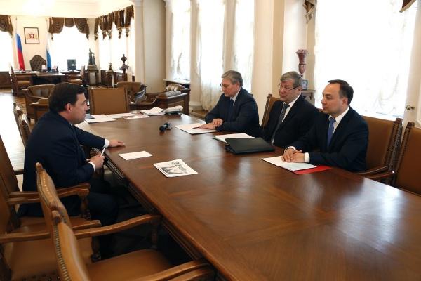 Андрей Артизов, Евгений Куйвашев|Фото: Департамент информационной политики губернатора
