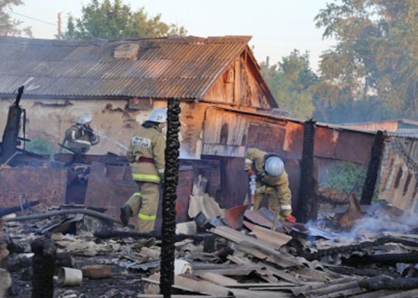 пожар, Лебяжьевский район, Зауралье|Фото: МЧС по Курганской области