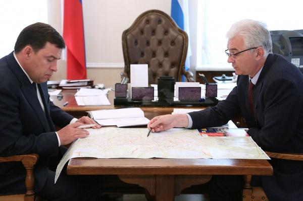 Евгений Куйвашев, Александр Якоб|Фото: Департамент информационной политики губернатора