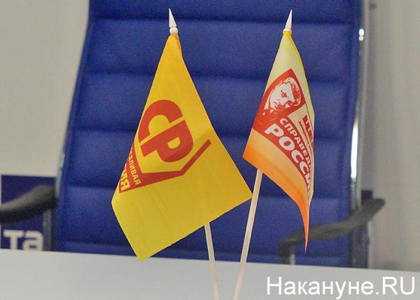 Справедливая Россия, СР, флажки|Фото: Накануне.RU