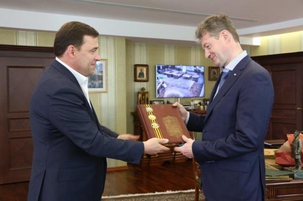 Евгений Куйвашев, Андрей Козицын|Фото: Департамент информационной политики губернатора