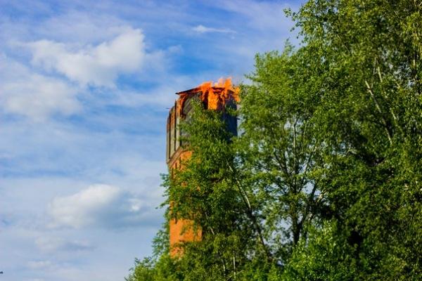 водонапорная башня пожар Алапаевск|Фото: vk.com/proalapaevsk