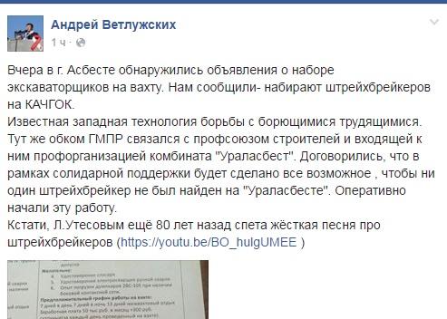 ветлужских фейсбук скрин ошибка|Фото: