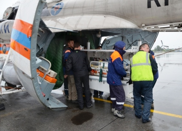 перевал дятлова, эвакуация туриста Фото: мчс по свердловской области
