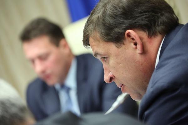 Евгений Куйвашев, Игорь Холманских|Фото: Департамент информационной политики губернатора