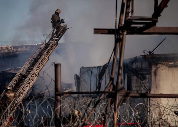 Пожар в колонии Югры|Фото: ugra-news.ru
