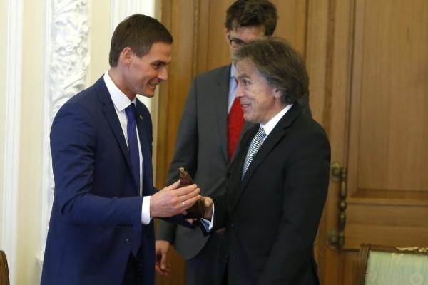 Андрей Соболев и посол Австрии в России Эмиль Брикс Фото: ДИП губернатора Свердловской области
